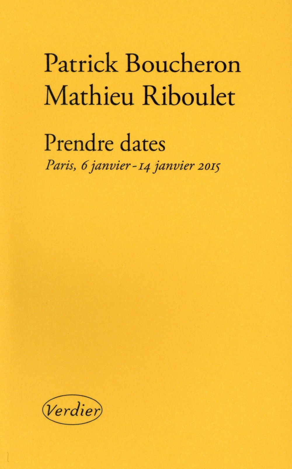 PRENDRE DATES