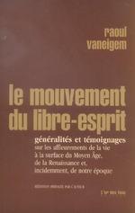 Couverture de Le Mouvement Du Libre Esprit