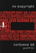Couverture de Sorbonne 68 graffiti ; no ©opyright