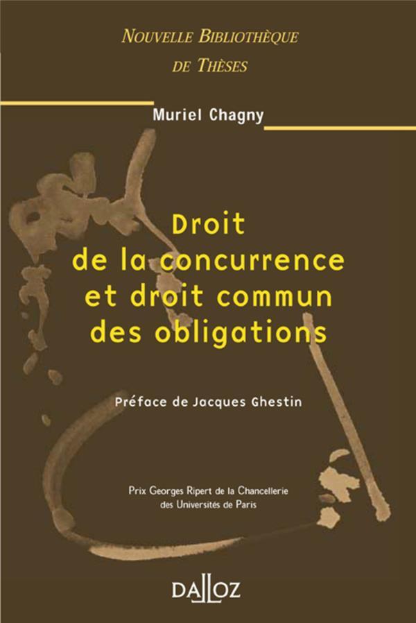 Droit De La Concurrence Et Droit Commun Des Obligations