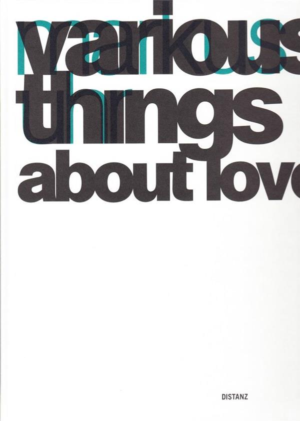 Various Things About Love /Anglais/Allemand