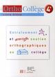 Orthocollège ; français ; 4ème ; livre de l'élève (édition 2007)