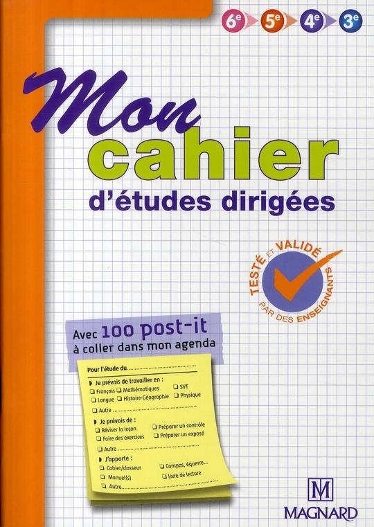 Mon Cahier D'Etudes Dirigees