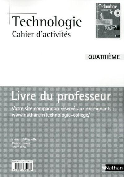 Technologie ; 4eme ; Livre Du Professeur (Edition 2010)