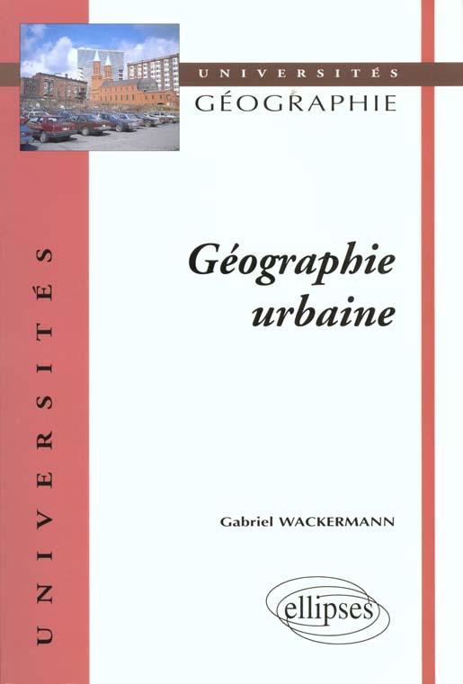 Geographie Urbaine Universites Geographie
