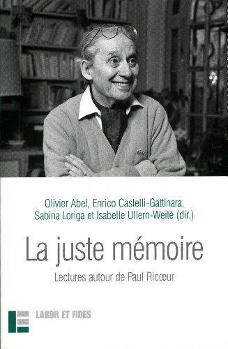 LA JUSTE MEMOIRE (PAUL RICOEUR)
