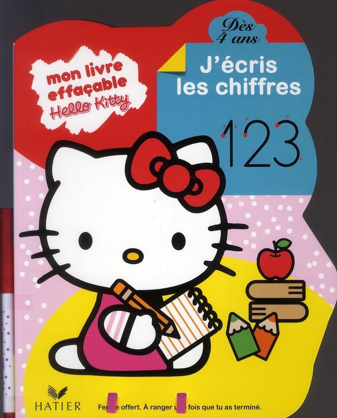 Hello Kitty ; Mon Livre Effacable ; J'Ecris Les Chiffres