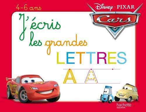 J'Ecris Les Grands Lettres Avec Cars ; Ardoise