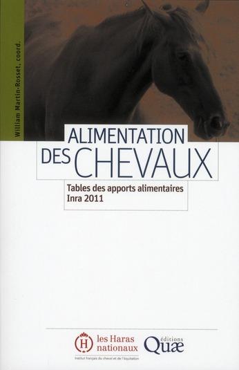 Alimentation Des Chevaux ; Tables Des Apports Alimentaires Inra 2011