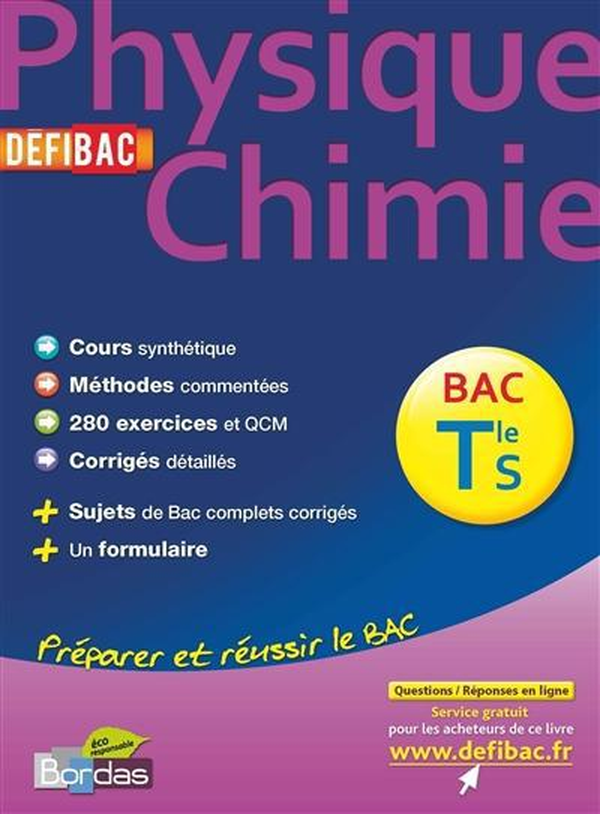 Physique-Chimie ; Terminale S