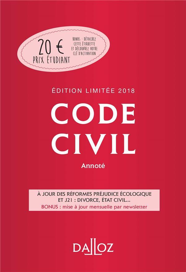 Code civil ; annoté
