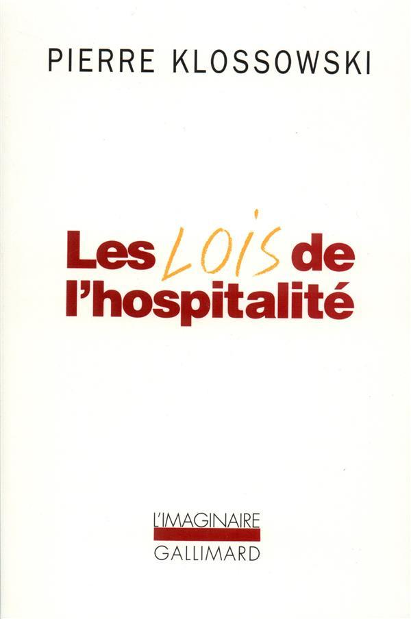 LES LOIS DE L'HOSPITALITE