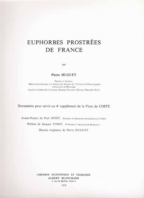 Euphorbes Prostrees De France