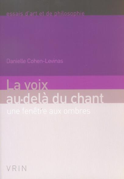 LA VOIX AU-DELA DU CHANT