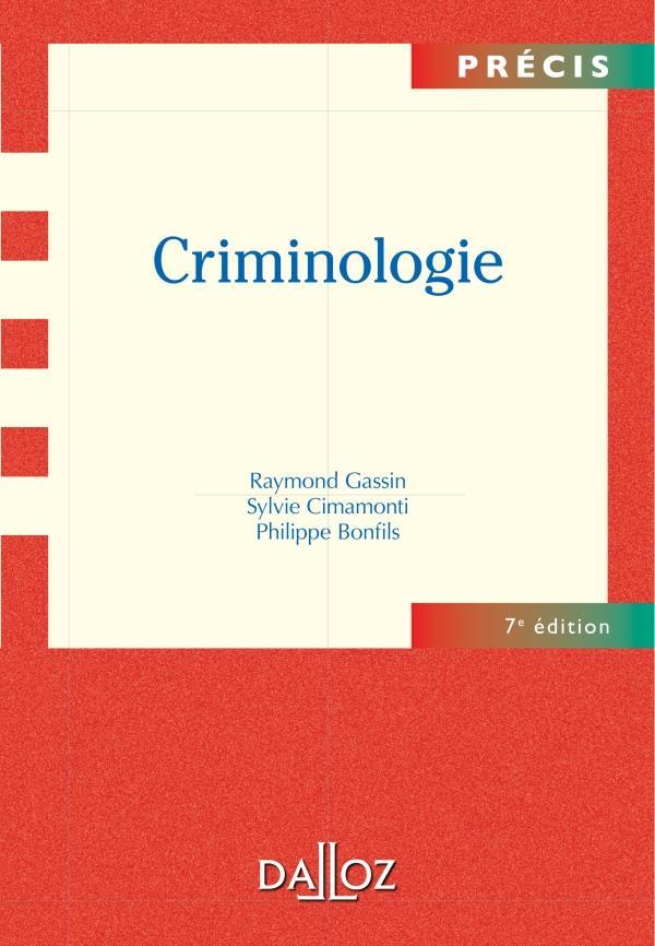 Criminologie (7e Edition)