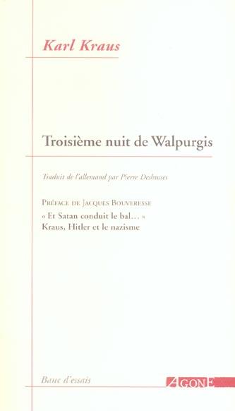 LA TROISIEME NUIT DE WALPURGIS
