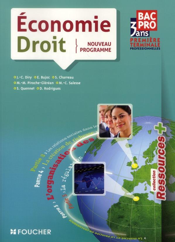 Economie-Droit ; 1ere Terminale Bep (Edition 2011)
