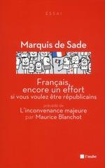 Couverture de Francais, encore un effort ; si vous voulez être Républicains