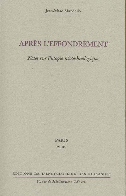 APRES L'EFFONDREMENT