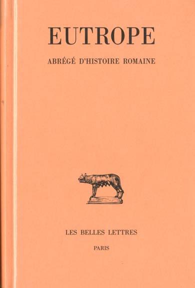Abrege d'histoire romaine