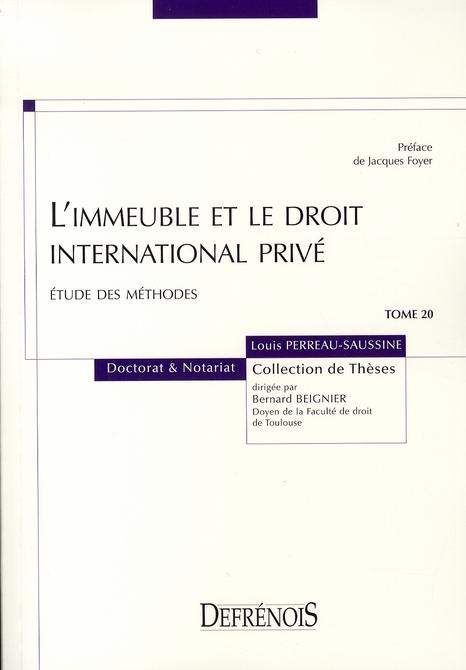 L'Immeuble Et Le Droit International Prive