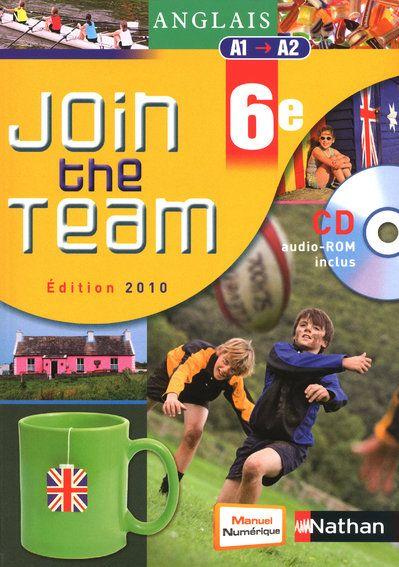 Join The Team; Anglais ; 6eme ; A1/A2