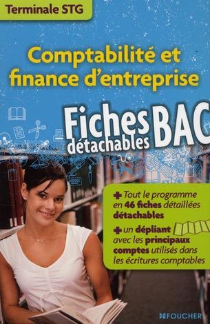 Comptabilite Et Finance D'Entreprise ; Terminale Stg