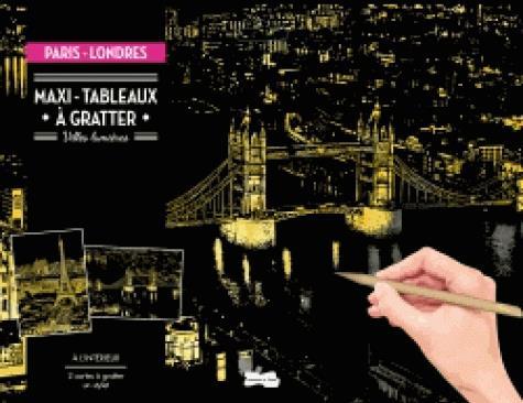 Maxi-tableaux à gratter paris-londres