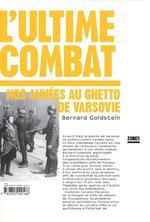 Couverture de L'ultime combat ; nos années au ghetto de Varsovie