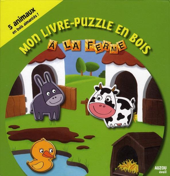 Mon Livre-Puzzle En Bois  Les Animaux De La Ferme