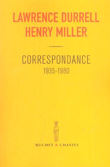 CORRESPONDANCE (1935-1980)