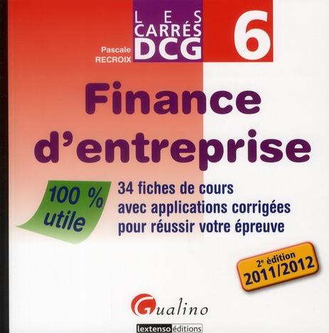Finance D'Entreprise ; Edition 2011/2012