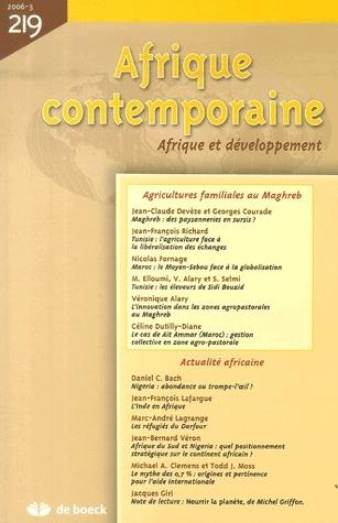 Afrique Contemporaine 2006/3 - N.219 Agricultures Familiales Au Maghreb