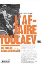 Couverture de L'affaire Toulaev ; un roman révolutionnaire