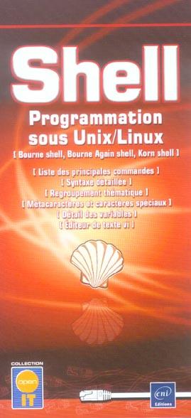 Shell ; Programmation Sous Unix/Linux