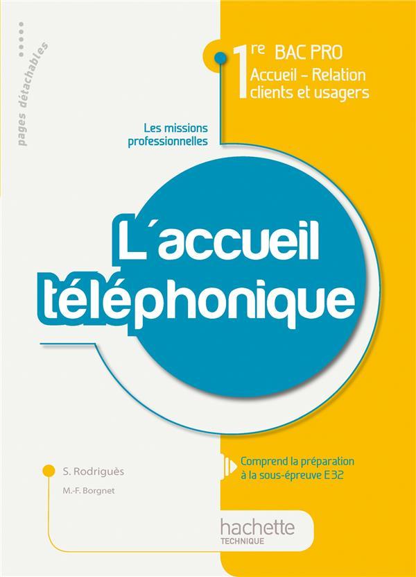 L'Accueil Telephonique ; 1ere Bac Pro Accueil, Relation Clients Et Usagers ; Livre De L'Eleve (Edition 2010)