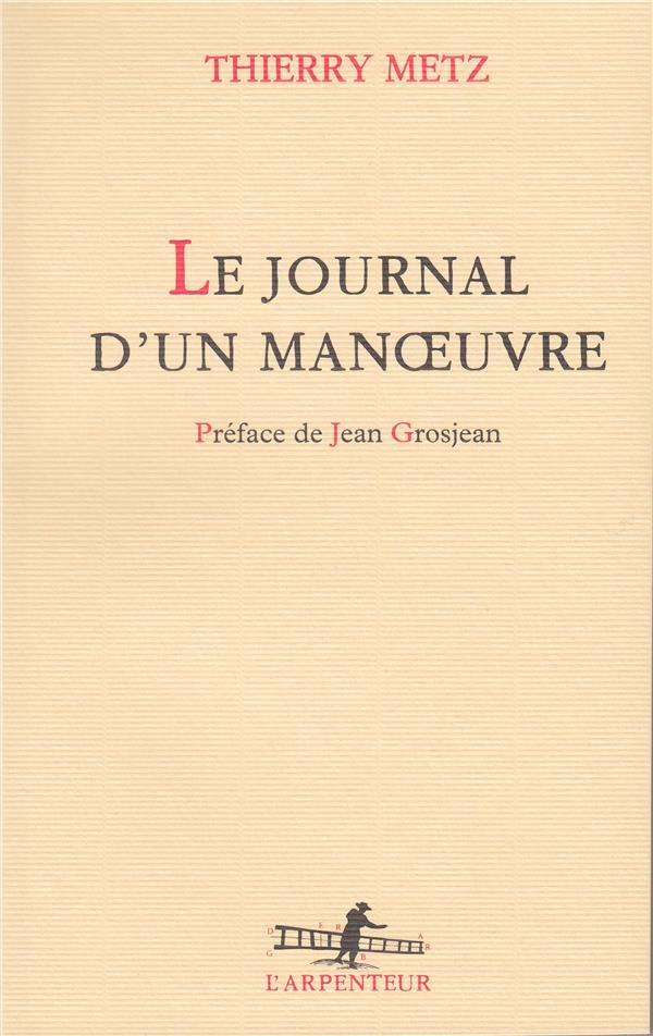 JOURNAL D'UN MANOEUVRE