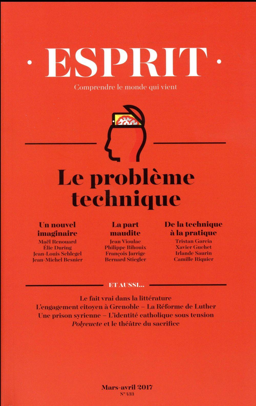 ESPRIT 03-04/2017 : LE PROBLEME TECHNIQUE