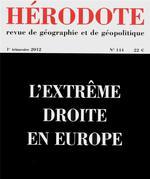 Couverture de REVUE HERODOTE N.144 ; l'extrême droite en Europe