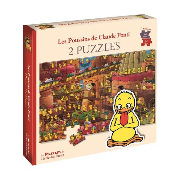 Les poussins de Claude Ponti ; 2 puzzles
