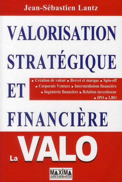Valorisation Strategique Et Financiere ; La Valo (2e Edition)