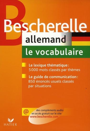 Bescherelle Allemand : Le Vocabulaire