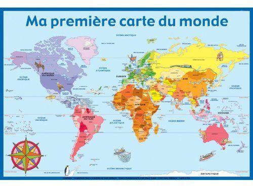 Poster ; Ma Premiere Carte Du Monde
