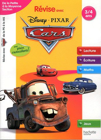 Revise Avec Cars; De La Petite A La Moyenne Section ; 3/4 Ans