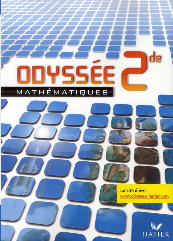 Odyssee; Mathematiques ; 2nde ; Livre De L'Eleve