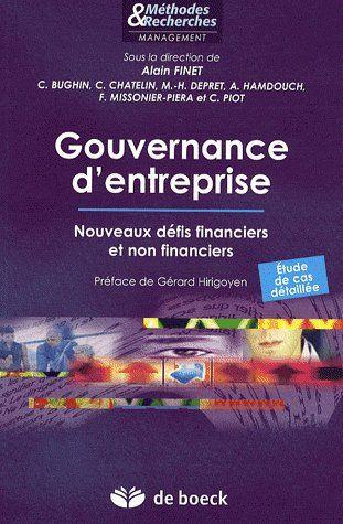 Gouvernance D'Entreprise Nouveaux Defis Financiers Et Non Financiers