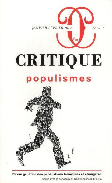 CRITIQUE 776-777 : POPULISMES