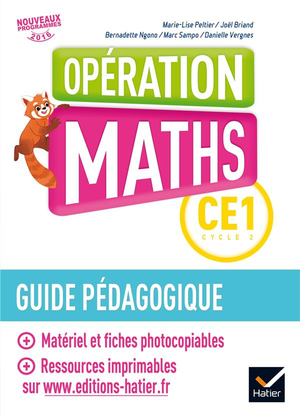 Operation Maths Ce1 Ed.2017 - Guide Pedagogique