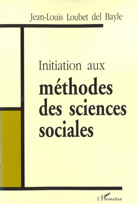 Initiation Aux Methodes Des Sciences Sociales