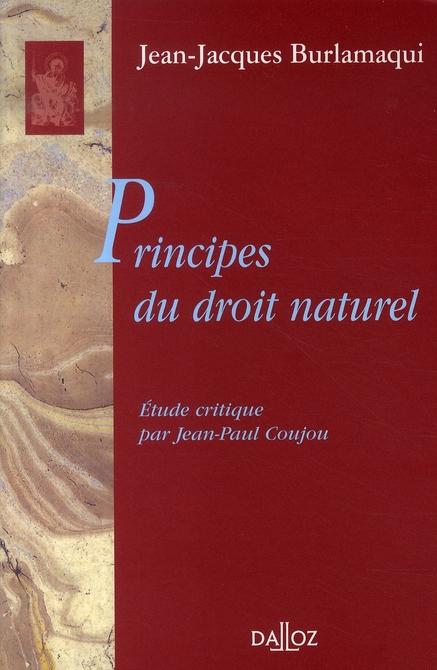 Principes Du Droit Naturel - 1ere Ed.